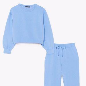 Nasty Gal Blue Sweatsuit